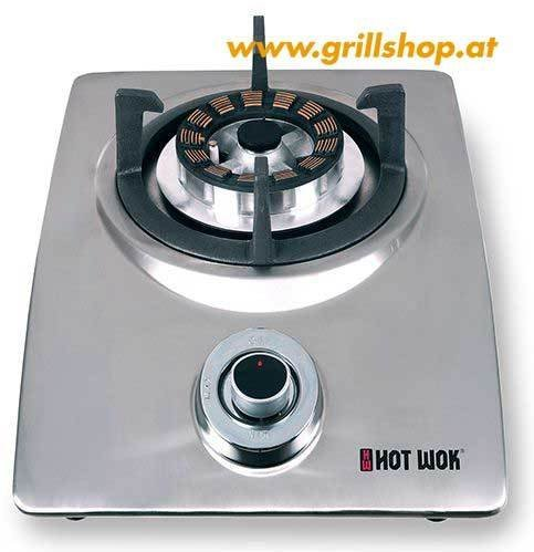 Wok Gas Hockerkocher Hot Wok Silver