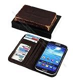 """OSS-2517 Handytasche im Buchstil für Samsung Galaxy S4 i9500 (im Vintage-Design mit Aufdruck """"Holy Bible"""" / """"Die Bibel"""" - in Englisch)"""