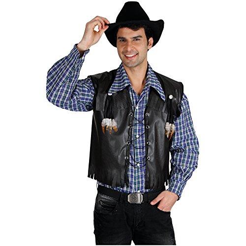 Imagen de chaleco disfraz vaquero deluxe para adulto negro