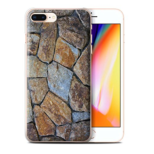 Stuff4 Hülle / Case für Apple iPhone 8 Plus / Pflasterung Muster / Stein/Rock Kollektion Kleine Steinmauer