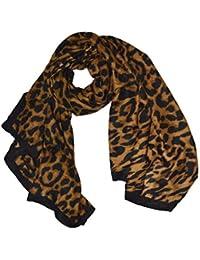 KGM Accessories Luxe Grande Taille Super Doux Imprimé léopard Noir à  Rayures Écharpe Châle – Plus cc1d7a816ee