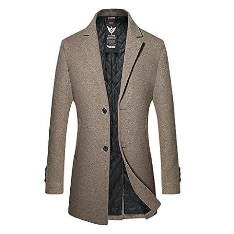 Manteau Classique Long Homme - Homme Trench Coat Manteaux Long d'Hiver Mode