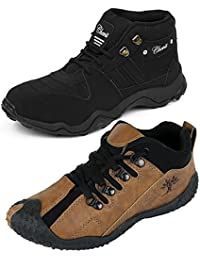 Chevit Men's Combo Pack of 2 Casual Sneakers (Sports and Running Shoes)