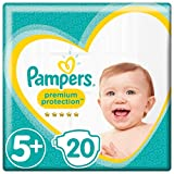 Pampers Premium Protection Windeln, Größe 5+ Junior Plus (12-17 kg), 1er Pack (1 x 20 Stück)