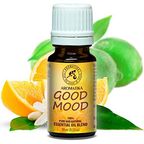 Kopfschmerzen Kümmern (Duftmischung Gute Laune 10ml - Aromamischung mit Naturreinem Lime Öl & Orangenöl - Duftkomposition am Besten für Gute Stimmung - Guten Schlaf - für Aromatherapie - Aroma Diffuser - Duftlampe)