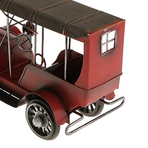 Magideal Metal Vintage Classic Car Model Wrought Iron Handicraft Car Model Red