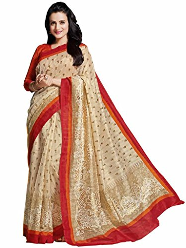 Vipul Silk Saree With Blouse Piece (11426 -off-White)