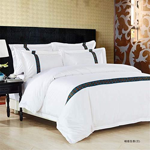 100% Baumwolle Home Hotel Bettwäsche Set Swhite Luxus Satin Streifen Bett Linie Vier Stücke Blatt Bettbezug 2 King Size 4 pcs