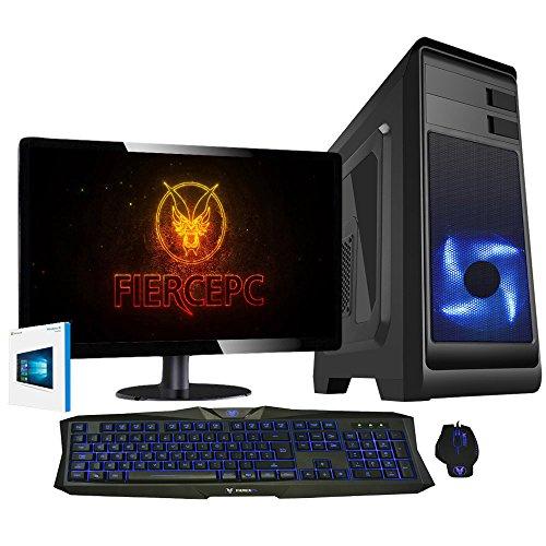 Fierce Bandit Hero Gaming PC Bundeln - Schnell 4.1GHz Hex-Core AMD FX-6300, 240GB SSD, 16GB 1600MHz, NVIDIA GeForce GTX 1050 Ti 4GB, Windows 10, Tastatur (VK/QWERTY), Maus, 24-Zoll-Monitor 255660