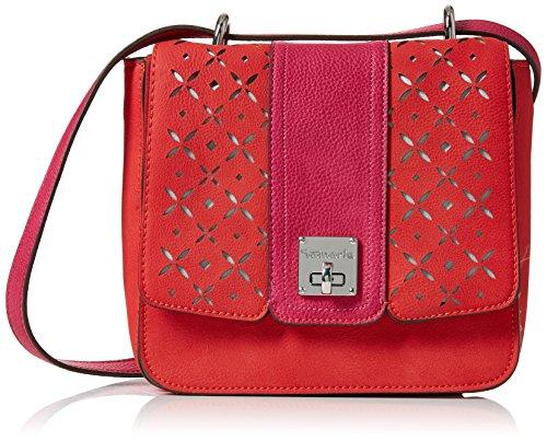 Tamaris Damen Beate Saddle Bag Umhängetasche, Rot (CORAL COMB.), 18,5x7,5x19 cm