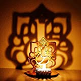 #5: M.G.R.J Ganesh Ji Shadow Lamps tealight candle holder stand for Pooja and Decorative