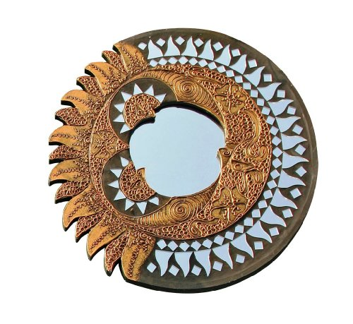 Feng Shui Sun Mirror and Moon representing Partnership-Round approx. 40 CM by Berk