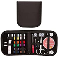 Lubier Accesorios para el Kit de Costura portátil Mini Juego de Estuches para el hogar, Viajes, Uso de Emergencia (Negro)