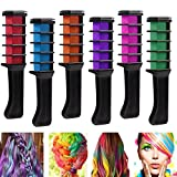 Richoose color tiza desechable instantáneo de larga duración tinte para el cabello cabello duradero Brillo de color crema para los fanáticos del partido DIY Cosplay 6PCS