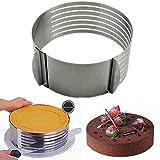 Cortador de tartas ajustable, de acero inoxidable; de 16 a 20 cm, de HeroNeo