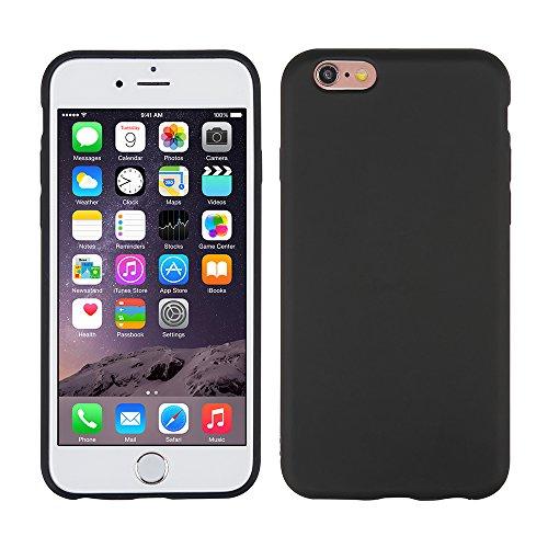IPhone 6S / 6 Case, Apple phone Case, reduce scratches, shock, protective cover transparent cover [transparent + black 2pcs] 6plus black