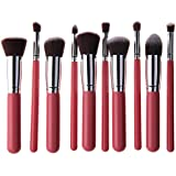 Koolmate 10Pcs Makeup Brush Set Premium Cosmetics Foundation Blending Blush Eyeliner Face Powder Brush Makeup...
