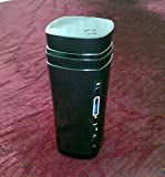 Portable Automatic Stirring Coffee Cup MLFMHR USB Insulation Cup Charging Heating Magnetizing Cup Battery Indication,Black