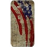 Casotec Vintage American Flag Design Hard Back Case Cover for Samsung Galaxy J7