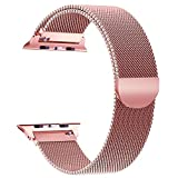 Für Apple Watch Armband 38mm, VIKATech Milanese Schlaufe Edelstahl Smart Watch Armbänder mit einzigartiger Magnetverriegelung ohne Schnalle für Apple Watch Armband 38mm Series 3 / 2 / 1, Sport, Edition, Nike+, Rose Gold