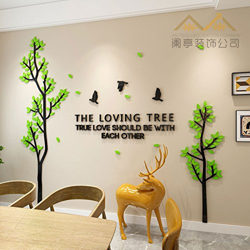 658beaf1ba7 Hongrun The Romantic Tree 3D TV in The Living Room Sofa Wall Warm Decor  Home Acrylic