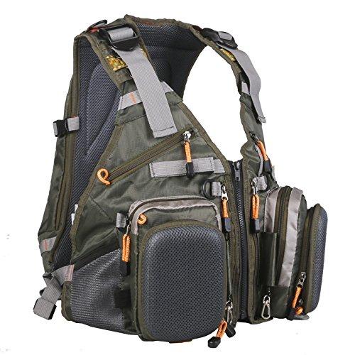 Maxcatch Paquete de chaleco de pesca con mosca (chaleco de pesca / mochila de pesca / paquete de cabestrillo de pesca) (Mochila V-POP (estilo mochila))