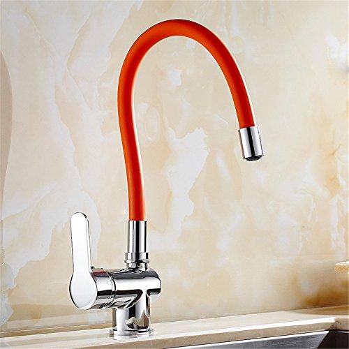 küche mit herausziehbarer Dual-Spülbrause,Kaltes Heißes Wassert Augmentez le robinet de cuisine chaud et froid en silicone respectueux de l\'environnement, le robinet simple et créatif