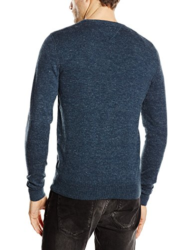 Hilfiger Denim Original Cotton Blend Crew Neck - Pull - Homme Nero (BLACK IRIS-PT 002)
