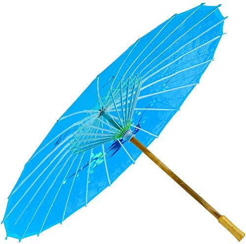 Chinesischer Schirm | Regen- & Sonnenschirm | authentische Bemalung in Handarbeit | Bambus Holz und...