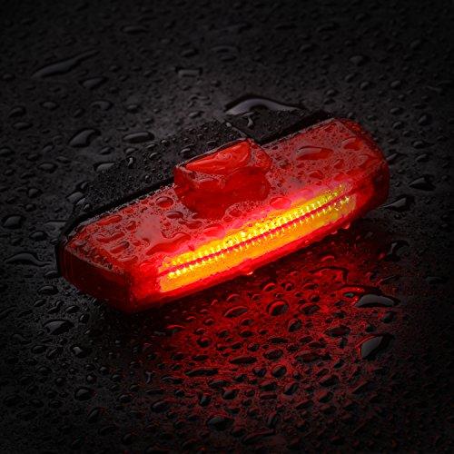 LED Luz Trasera de Bicicleta  GVDV Faro trasero Impermeable USB Carga Super Potente Luz Ciclismo con 6 Modos