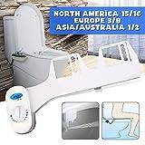 ZLUOK Attacco Sedile WC, Ugello Per Acqua Nebulizzata Bidet, Non Autopulente (Senza Manutenzione)