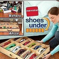 tiowea 12de Grid Non Woven Shoe Box Folding Organizador Zapatos almacenar Armario ordnungs sistemas