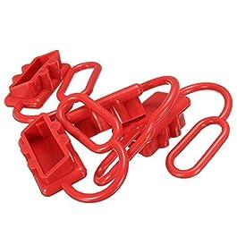 Tutoy 4 Pezzi 50A Dc 12-24V Coperchio Antipolvere per I Connettori Anderson Coperchio Stile Tappi Parapolvere Rosso