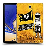 Head Case Designs Offizielle 5 Seconds of Summer Ospace Gelb Farbenchaos Ruckseite Hülle für Samsung Galaxy Tab S4 10.5 (2018)