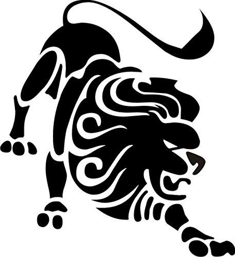 T-Shirt E1045 Schönes T-Shirt mit farbigem Brustaufdruck - Logo / Grafik - Comic Design - Sternzeichen Löwe Mehrfarbig