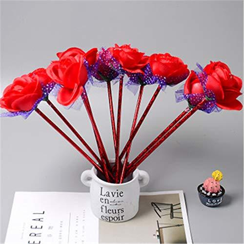 Team Chinese Box (10 Stücke Nette Rose Decor Kugelschreiber Büro Schulbedarf Studenten Kinder Geschenk 20,5-27 cm)