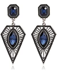 Glitz Shining Collection Multicolour Alloy Long Earrings for Women