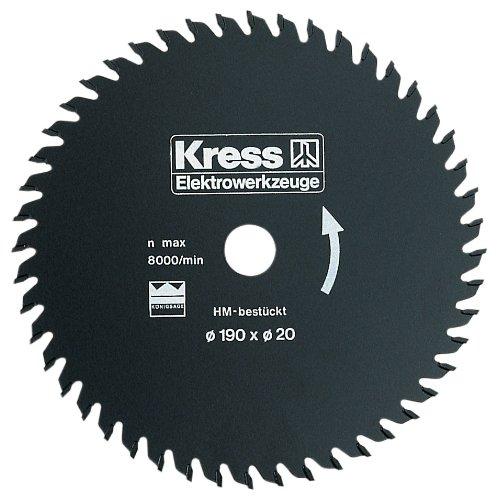 Preisvergleich Produktbild Kress 91519401 48 Zähne HM 190 x 20 mm Kreissägeblatt