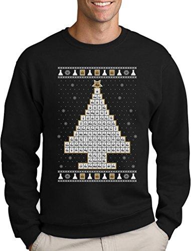 Green Turtle T-Shirts Periodensystem Weihnachtsbaum Ugly Christmas Weihnachtspullover Sweatshirt Small Schwarz