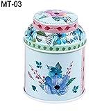DERKOLY saldi 2018New vintage fiori cilindro mini segno di Candy Tea pacchetto contenitore Storage box C