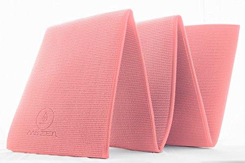 Esterilla Yoga Plegable y Antideslizante – Yoga Mat Perfecta para Yoga Fitness o Gimnasia – Gruesa (8 mm) – de REGALO Guía de Yoga y Bolsa de Transporte – Genial para Abdominales - Diseño 100% Español (Rosa)