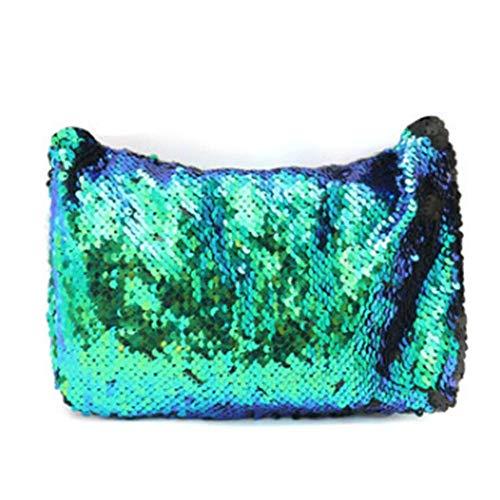 Egbert Funkelnde Pailletten Meerjungfrau Make-Up Tasche Handtasche Gürtel Glitter Geldbörse Handtasche Comestic Case - # 1