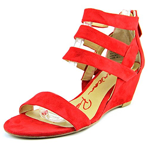 American Rag Casen Toile Sandales Compensés red