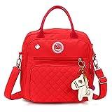 Lunji Baby Wickelrucksack Lässig Wickeltasche Umhängetasche Tragetasche Multifunktional Babytasche Reiserucksack für Reise (Rot)