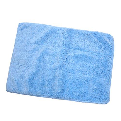 sourcing map Mikrofaser Chenille Auto Wash Reinigungstuch Poliertuch Polierwerkzeug Blau