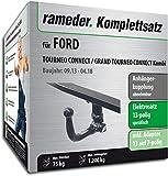 Rameder Komplettsatz, Anhängerkupplung abnehmbar + 13pol Elektrik für Ford TOURNEO Connect/Grand TOURNEO Connect Kombi (135460-11574-3)