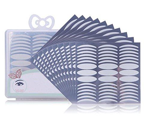 1Box (270PCS) natürliche unsichtbare Faser Doppel Eyelid Tape Aufkleber - Instant Eye Lift perfekt für Kapuze Droopy uneben oder Mono-Augenlider (breit und schlank) (Kapuze Tape)
