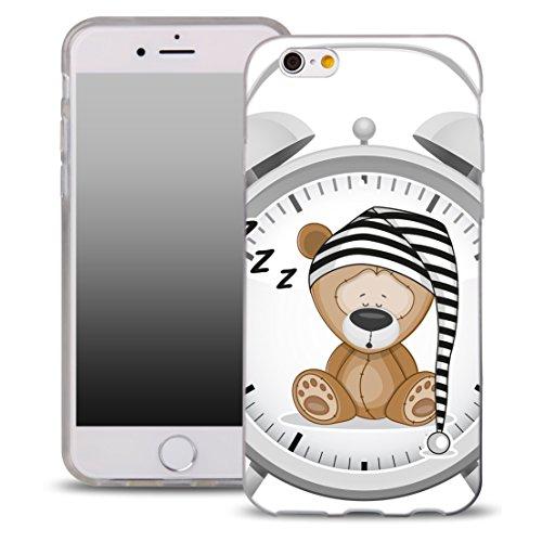 OOH!COLOR Handyhülle für Samsung Galaxy S5 Mini mit Teddybär OKI001 Motiv Silikon Case Flexibele Tasche Design Schutzhülle Elastisch Etui Cover S5 Teddybär