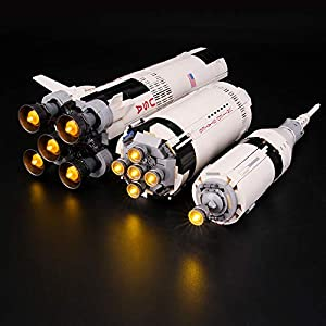 BRIKSMAX Kit di Illuminazione a LED per Lego Ideas S.P.A. NASA Apollo 11 Saturn-V, Compatibile con Il Modello Lego 21309…  LEGO