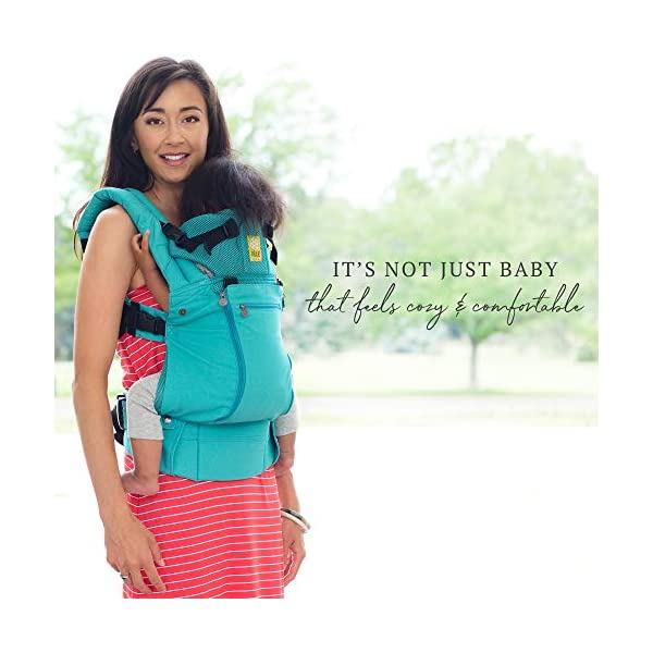 LÍLLÉbaby  Complete All Seasons 6-in-1 Baby Carrier, Carribean Sea Lillebaby With a temperature regulating breathable panel that unzips to encourage airflow in warm conditions and 6 carrying positions - Foetal, infant inward, outward, toddler inward, hip, back - The only carrier you'll ever need! Suitable from 3.2- 20kg (birth to approx. 4 years old), providing extended comfortable use for parent and child with no additional infant support required for new-borns - the ergonomic adjustable seat is acknowledged as 'hip-healthy' by the International Hip Dysplasia Institute Unique spacious head support with elasticated straps - soothes infants with gentle lulling motion and provides excellent support as children grow 4